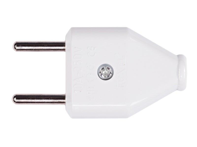 Вилка Luxel плоская без заземления (1006)
