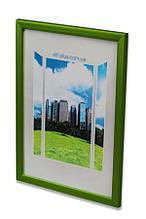 Рамка 30х45 из пластика - Зелёный   салатовый металлик