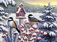 Зимовище птахів . Схема під вишивку бісером .
