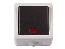 Блок выключатель с подсветкой Luxel DEBUT (6505)