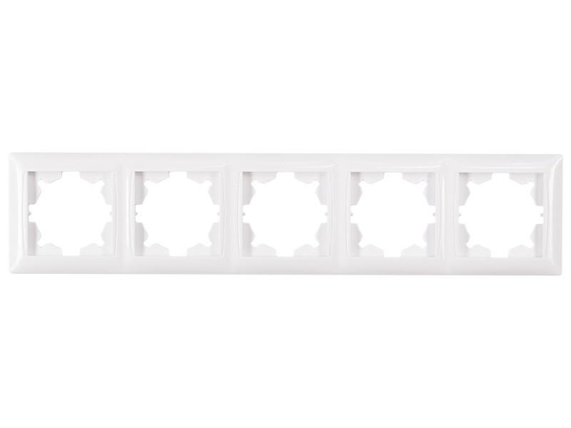 Рамка 5-я горизонтальная Luxel PRIMERA (3025) белая