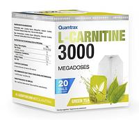 Жиросжигатель Л-карнитин в шотах Quamtrax L-Carnitine 3000 - 20 флаконов зеленый чай