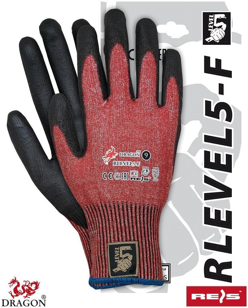 Рукавички робочі захисні вкриті поліуретаном REIS Польща RLEVEL5-F CB