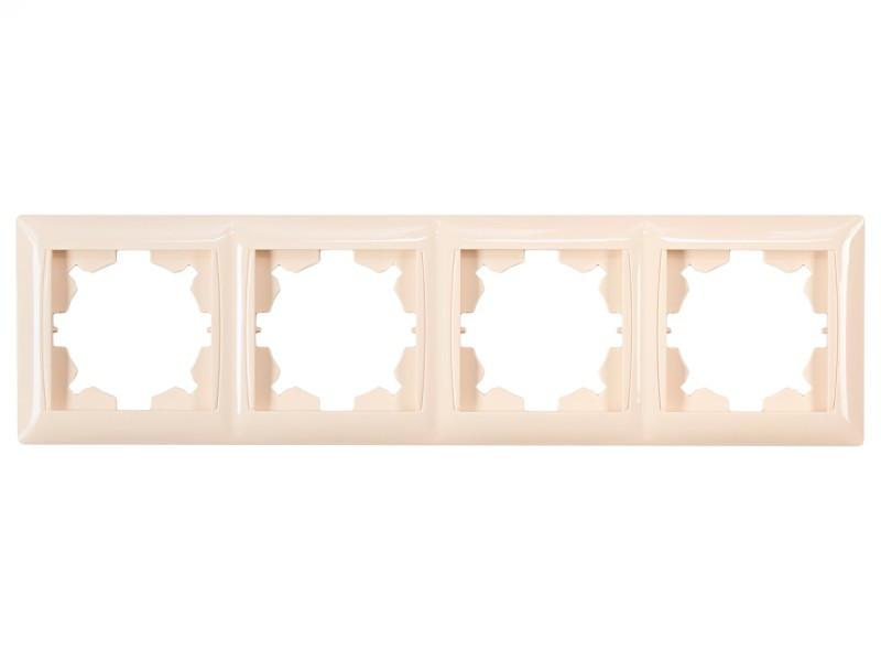 Рамка 4-я горизонтальная Luxel PRIMERA (3324) кремовая