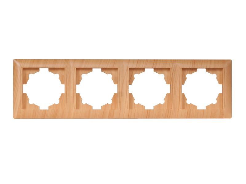 Рамка 4-я горизонтальная Luxel PRIMERA (3824) сосна