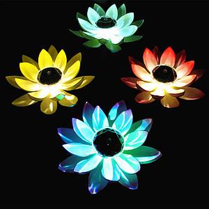 Светящиеся лилии для пруда на солнечной батарее