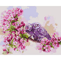 """Картина раскраска по номерам на холсте цветы Идейка """"Еденение сердец"""" 40х50 см., сложность 3"""