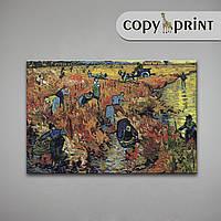 Картина на холсте, репродукция: Красные виноградники в Арле, фото 1