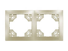 Рамка 2-я горизонтальная Luxel BRAVO (5622) платиновая