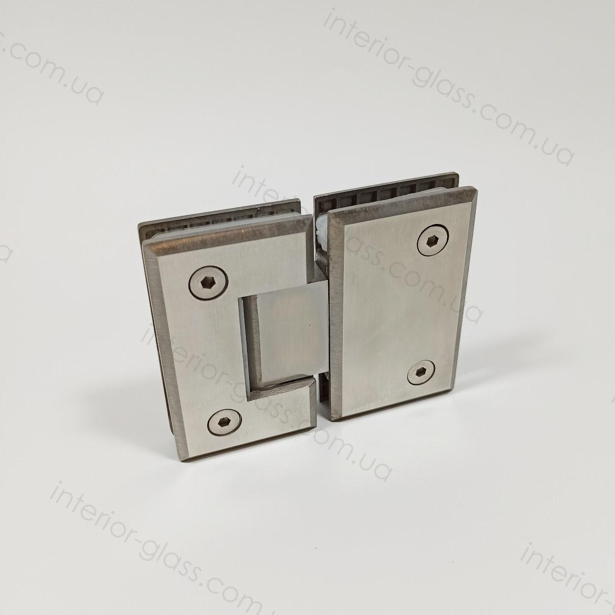 Петля душевая стекло-стекло 180° HDL-303 SSS матовая нержавеющая сталь