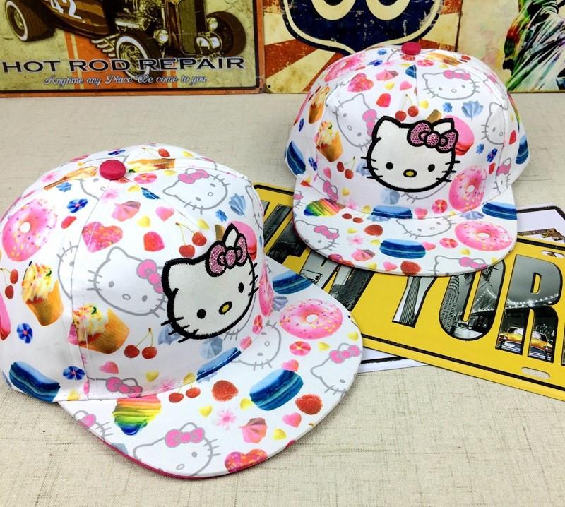Снепбэк hello kitty детская бейсболка кепка панамка