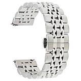 Браслет для Amazfit Stratos | Pace | GTR 47mm Ремешок 22мм Link стальной Серебряный BeWatch (1021405), фото 2