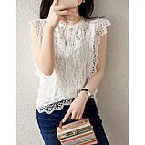 Блузка женская нарядная с гипюром, фото 2