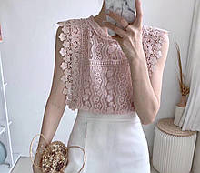 Блузка женская нарядная с гипюром