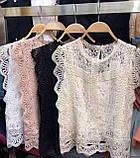 Блузка женская нарядная с гипюром, фото 6