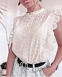 Блузка женская нарядная с гипюром, фото 4