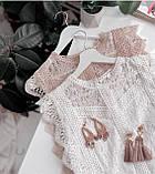 Блузка женская нарядная с гипюром, фото 5