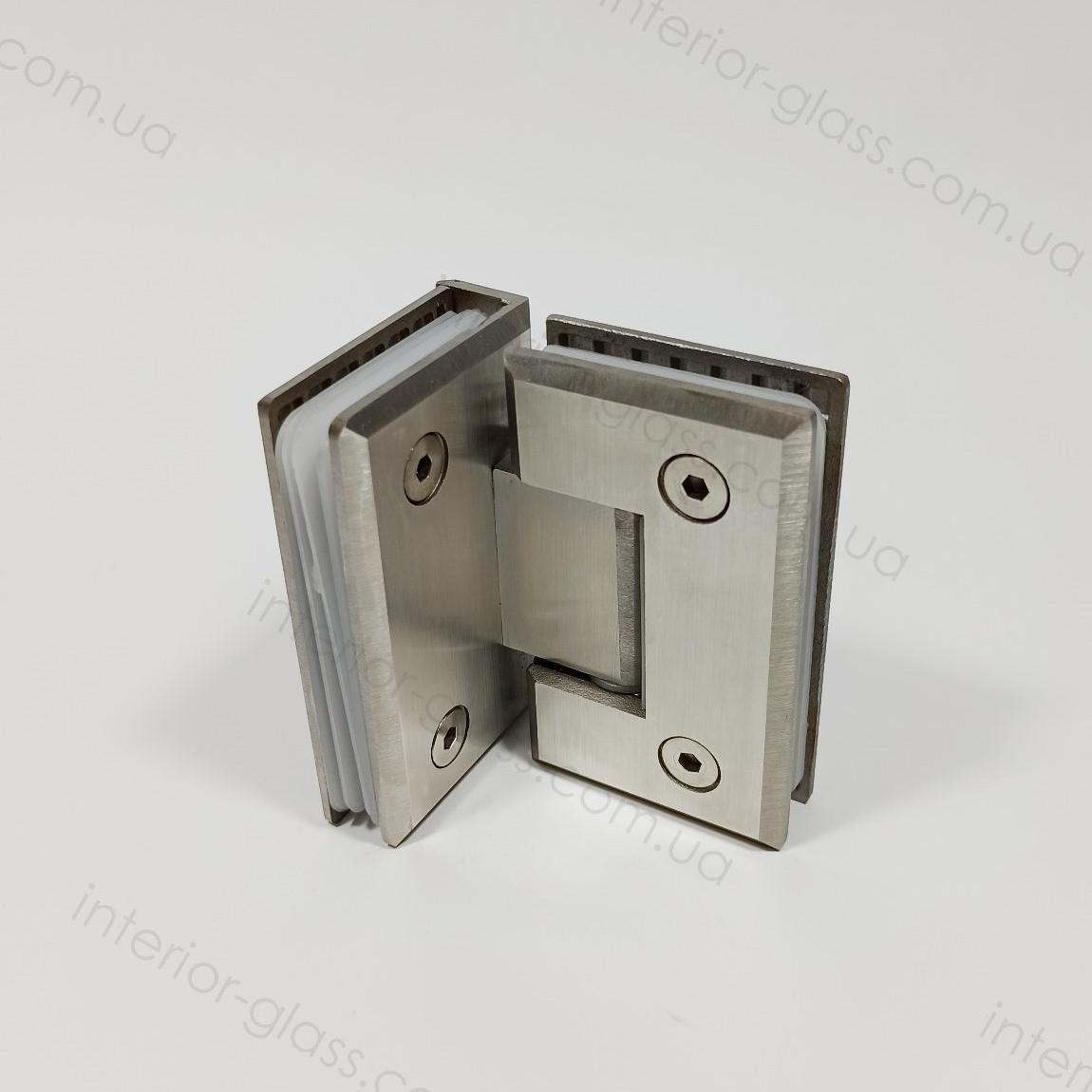 Петля душевая 90° стекло-стекло HDL-304 SSS матовая нержавеющая сталь