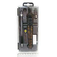 S56006A Готовальня набор 6 предметов - циркуль + карандаш механический + грифели + ластик + точилка