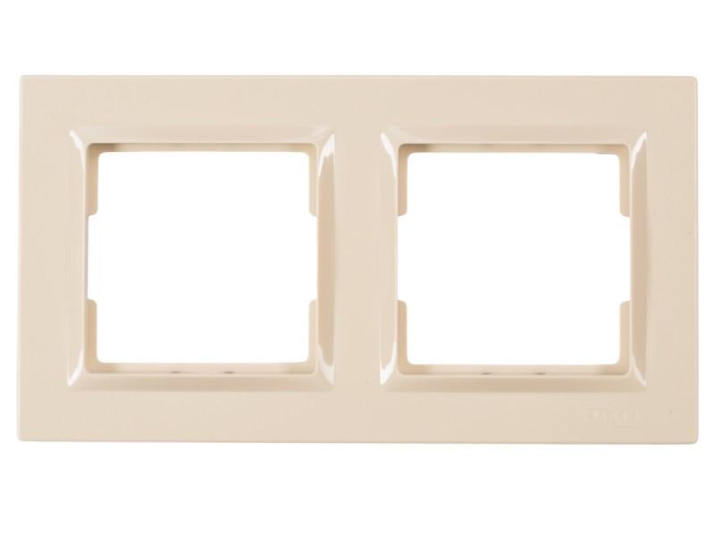 Рамка 2-я горизонтальная Luxel JAZZ (9322) кремовая