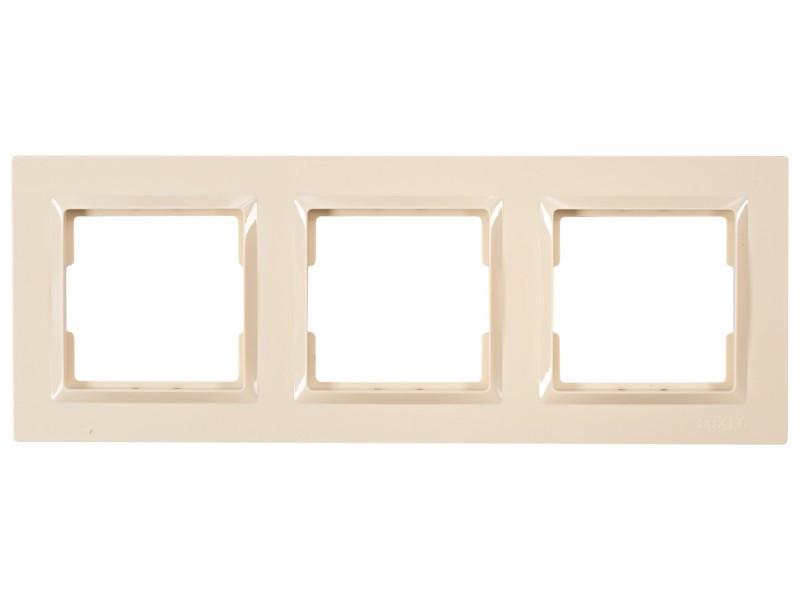 Рамка 3-я горизонтальная Luxel JAZZ (9323) кремовая