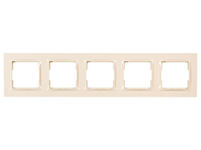 Рамка 5-я горизонтальная Luxel JAZZ (9325) кремовая