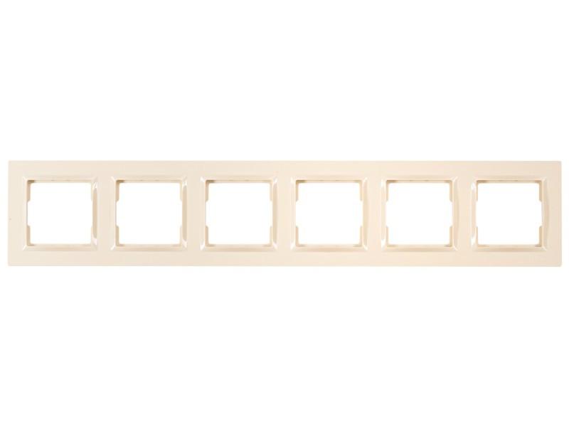 Рамка 6-я горизонтальная Luxel JAZZ (9326) кремовая