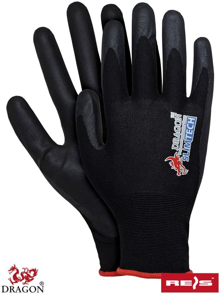 Перчатки рабочие защитные покрытые полиуретаном REIS Польша SLIMTECH BB