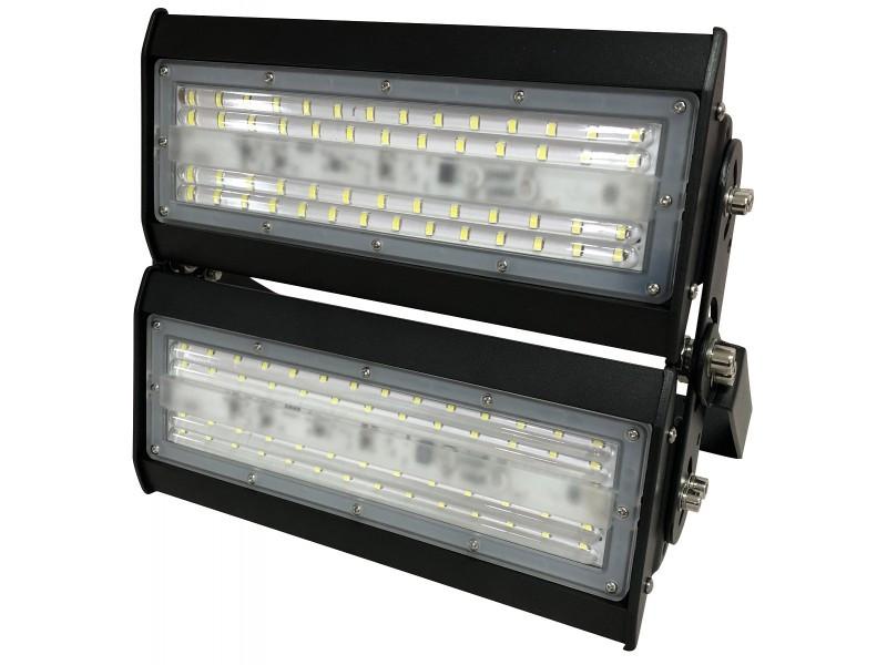 Светодиодный секционный  прожектор Luxel 305х290х65мм 220-240V 100W IP65 (LED-LX-100C)