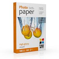 Фотобумага ColorWay глянцевая 230г/м A4 100л (PG230100A4) картонная упаковка