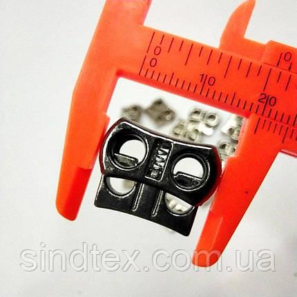 Фиксатор для шнура пластиковый, графит (ИР-0052), фото 2