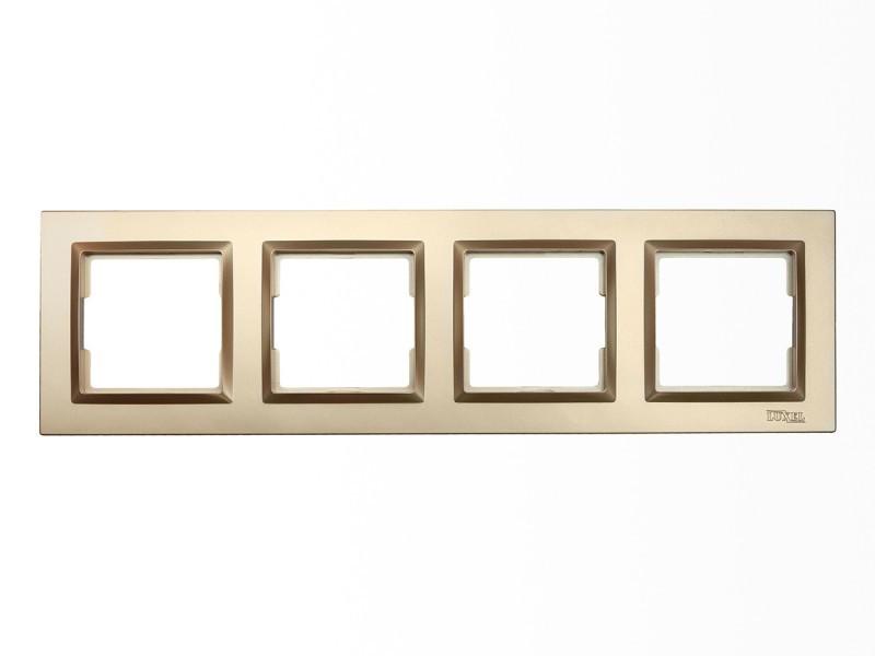 Рамка 4-я горизонтальная Luxel JAZZ (9624) Бронзовая