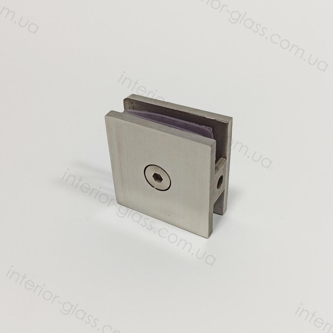 Соединитель стекло-стена HDL-721-1 SSS литой, матовая нержавеющая сталь