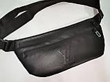 (16*34-мале)Последняя модная унисекс LV сумка на пояс  искусств кожа женский и мужские пояс Бананка оптом, фото 4