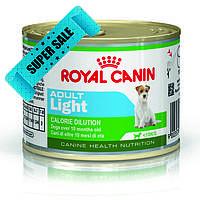 Влажный корм для собак Royal Canin Adult Light 195 г