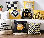 Декоративна подушка (наволочка) Колекція Love, фото 2