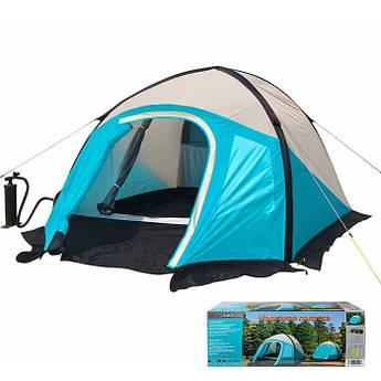 Палатка 3-х местная, двухслойная надувная с тамбуром Mimir 800.
