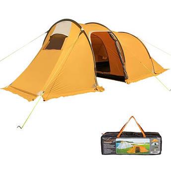 Палатка 3-х местная с тамбуром Mimir 1017, оранжевая.
