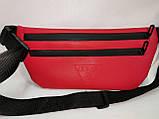 (19*39-большое)Последняя модная унисекс GUESS сумка на пояс искусств кожа женский и мужские Бананка опт, фото 3