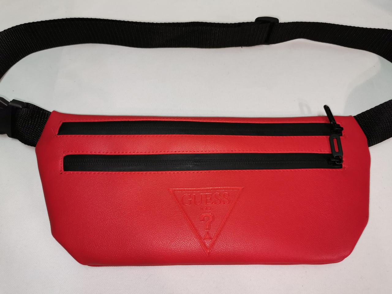(19*39-большое)Последняя модная унисекс GUESS сумка на пояс искусств кожа женский и мужские Бананка опт
