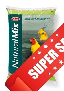 Корм для средних попугаев (неразлучники, кореллы) Padovan NaturalMix Parrocchetti 850 г