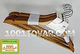 Плечики деревянные Hanger с металлическим крючком 42,5х22,5 см., 6 шт., Aro., фото 2