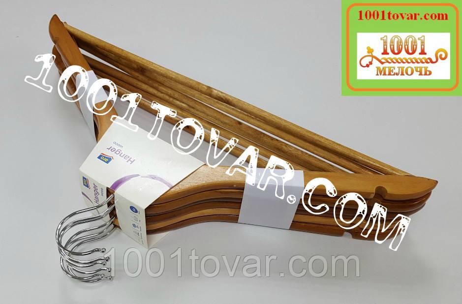 Плечики деревянные Hanger с металлическим крючком 42,5х22,5 см., 6 шт., Aro.