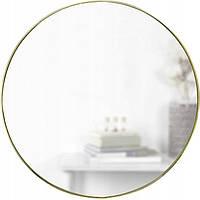Круглое зеркало в золотой раме диаметром 60 см