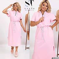 Нарядное женское длинное платье с разрезами по бокам и капюшоном большого размера, Повседневное платье длинное большого размера с капюшоном!, фото 4