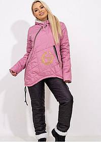 Костюм зимний стеганый на овчине куртка штаны Фреза