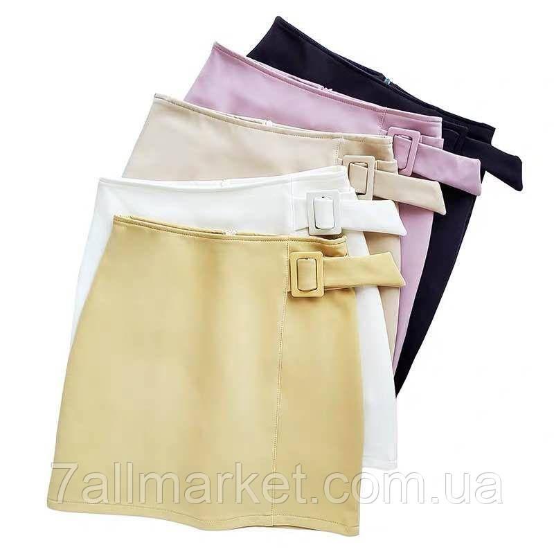 """Юбка-шорты женская короткая с пряжкой размеры S-XL (5цв) """"VIOLA"""" купить недорого от прямого поставщика"""