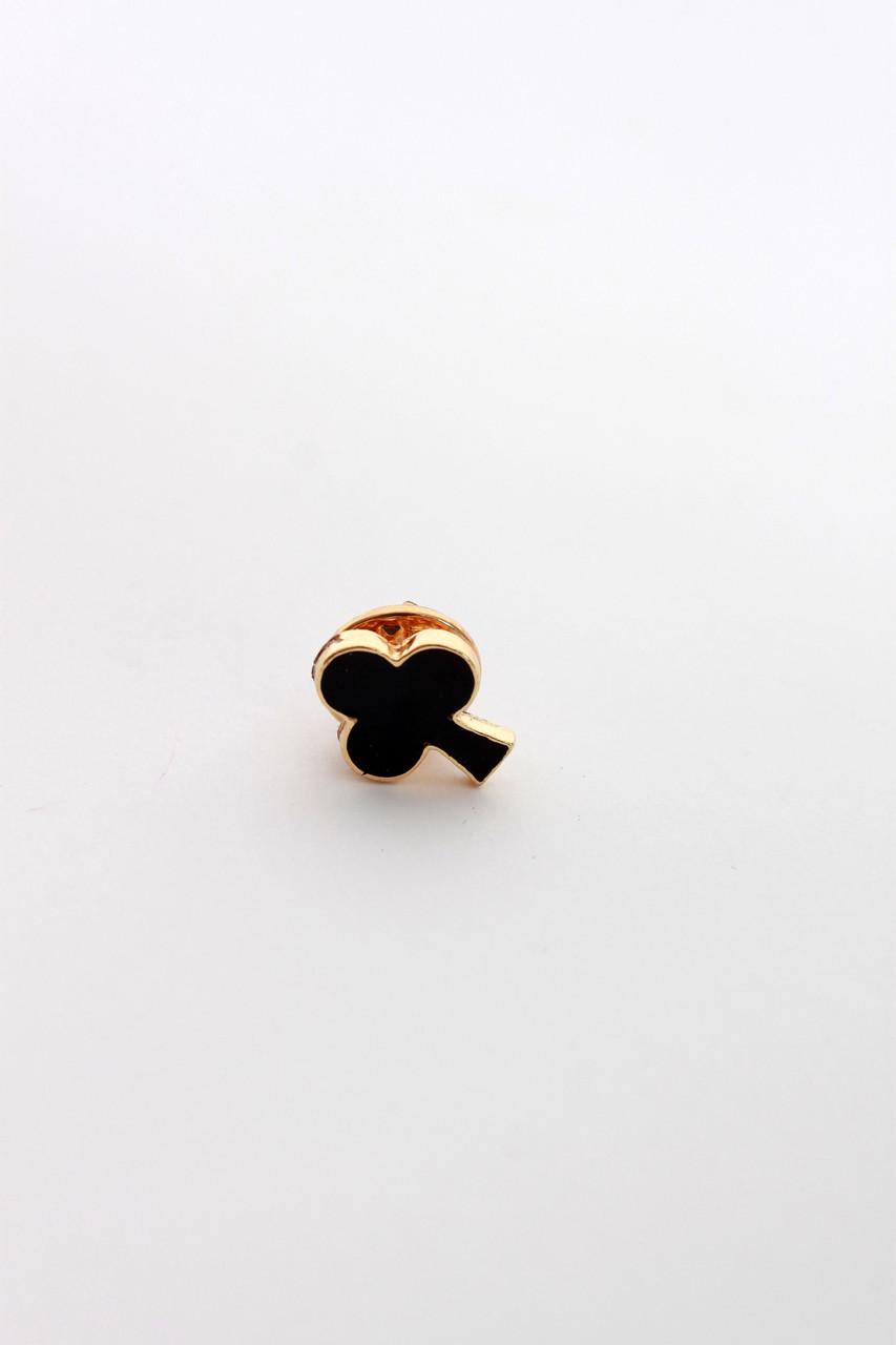 Брошки FAMO Брошь Бигс черный+золотой Длина 1.2(см) / Ширина 1.1(см) (Х107-7)