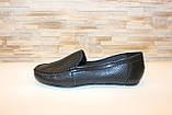 Мокасины туфли женские черные натуральная кожа Т1090, фото 3