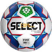 Мяч футбольный Select Brillant Super FIFA (PFL) (БЕЛ/СИНИЙ) Размер 5